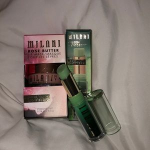 Milani Rose Lip Mask & Green Goddess Lip Balm